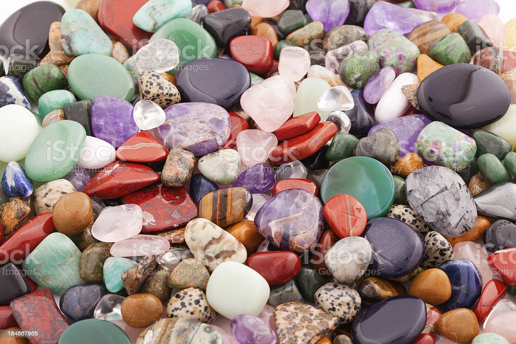 Minerals and crystals - Many different kinds stock photo
