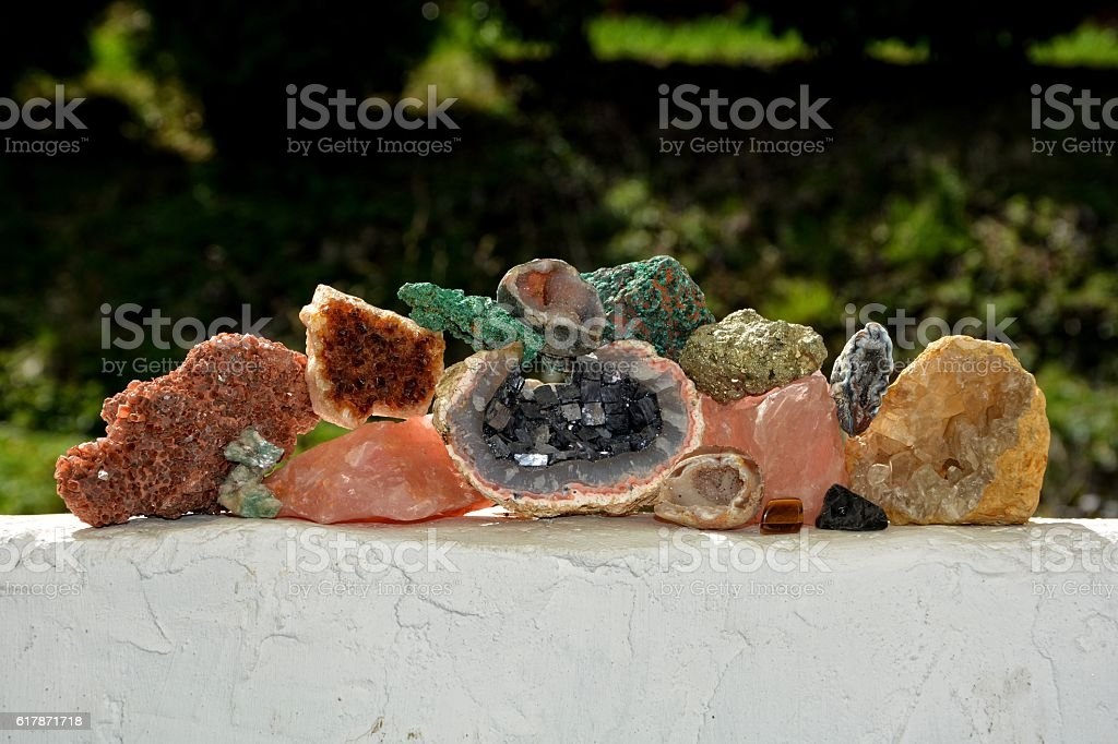 minerals collection stock photo