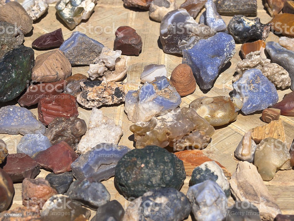 Minerals from the Gobi desert. royalty-free stock photo