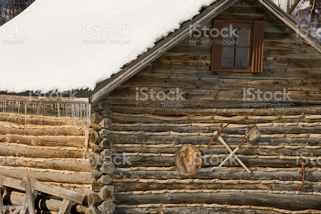 Miners Cabin royalty-free stock photo
