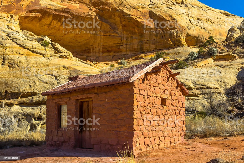 Miner's Cabin stock photo