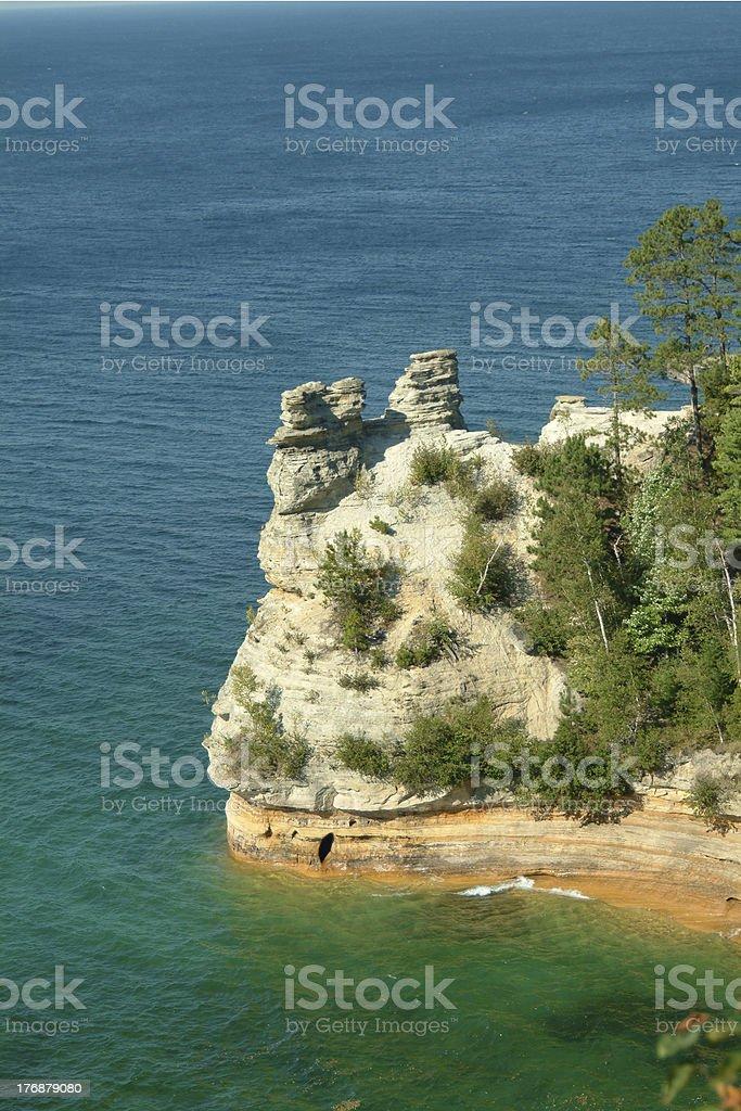 Mineiro's Castle, conforme demonstrado Rocks National Lakeshore foto royalty-free