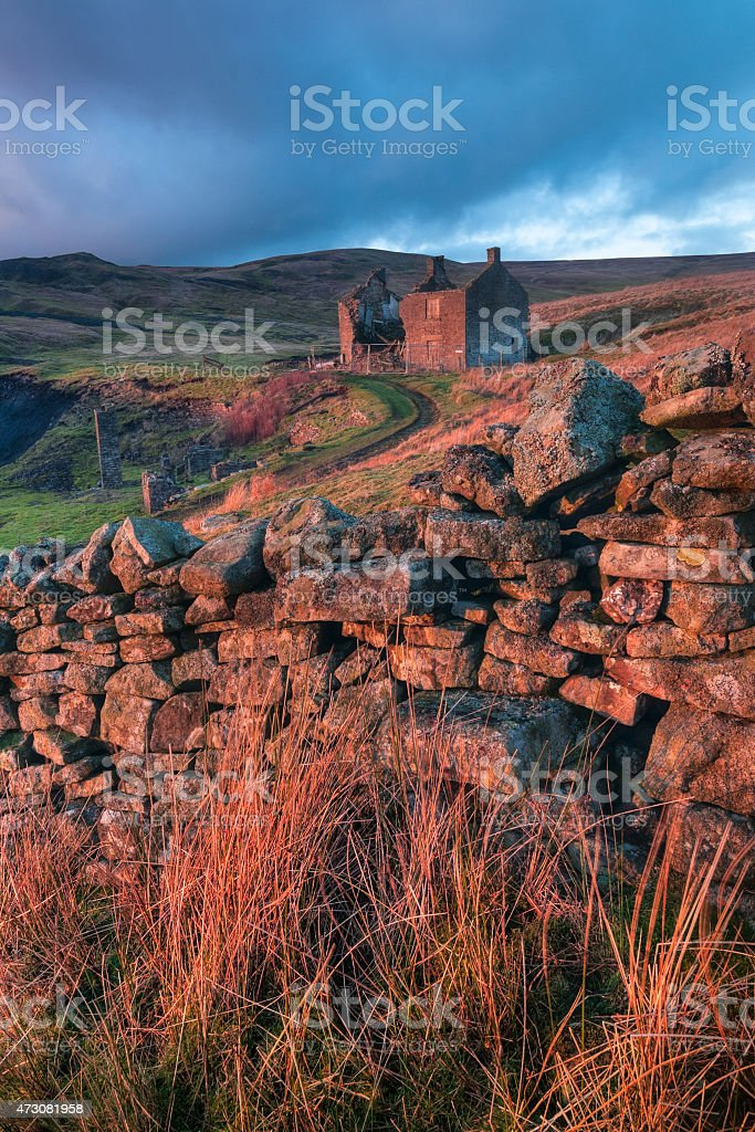 Miners Cottage, Newbiggin, Upper Teesdale, County Durham, UK stock photo