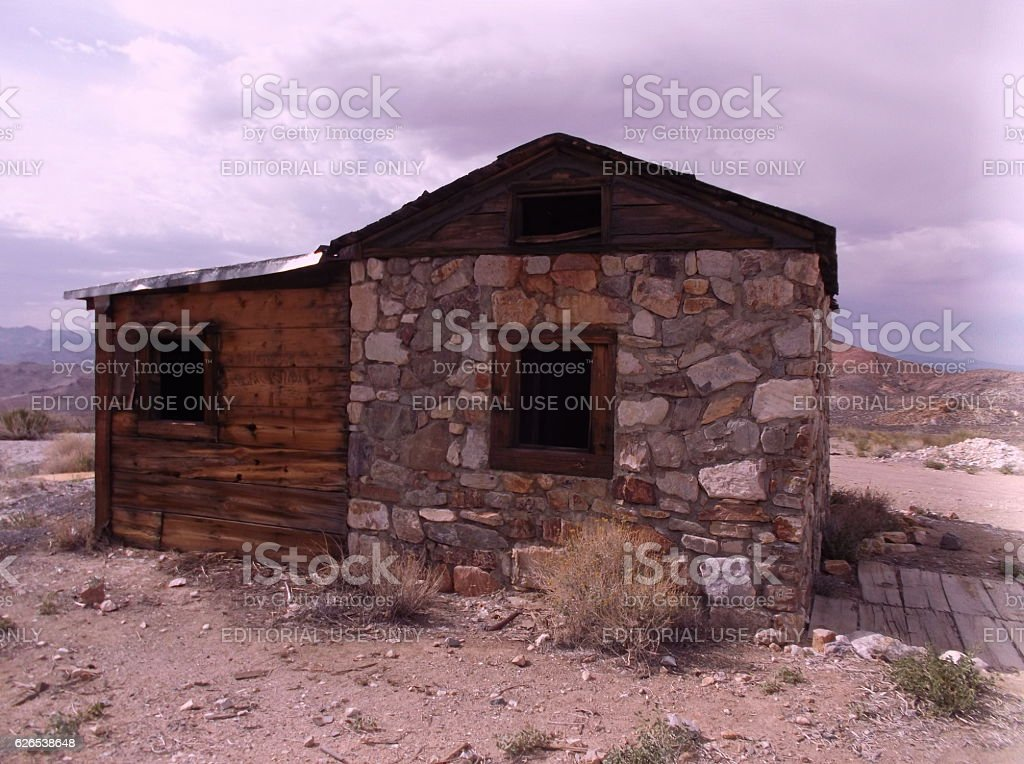 Miners Cottage stock photo