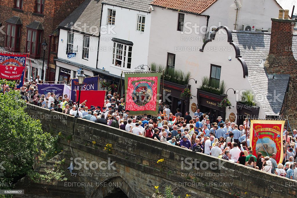 Miner's Gala in Durham, England stock photo