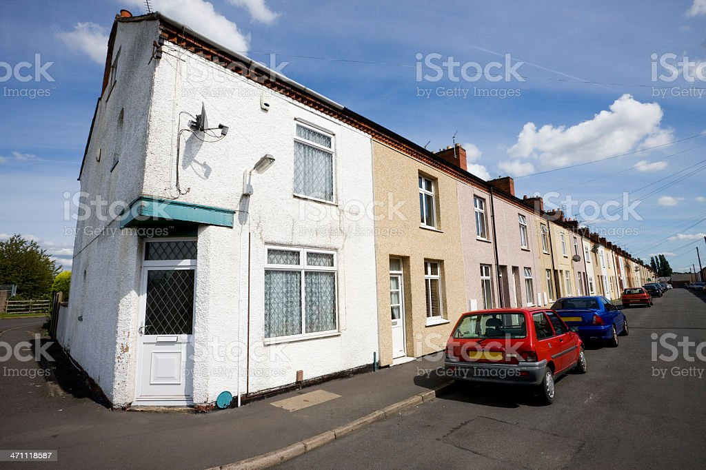 Miners Houses in Leicestershire royalty-free stock photo