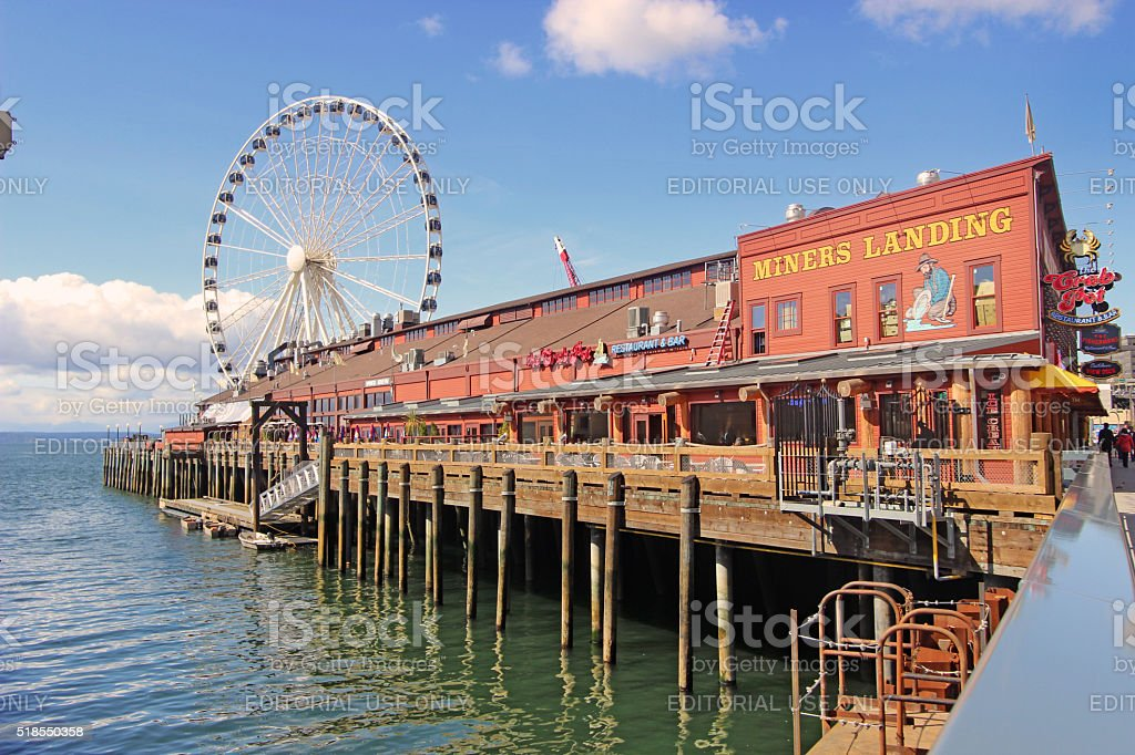 Miners Landing, Seattle, Washington stock photo
