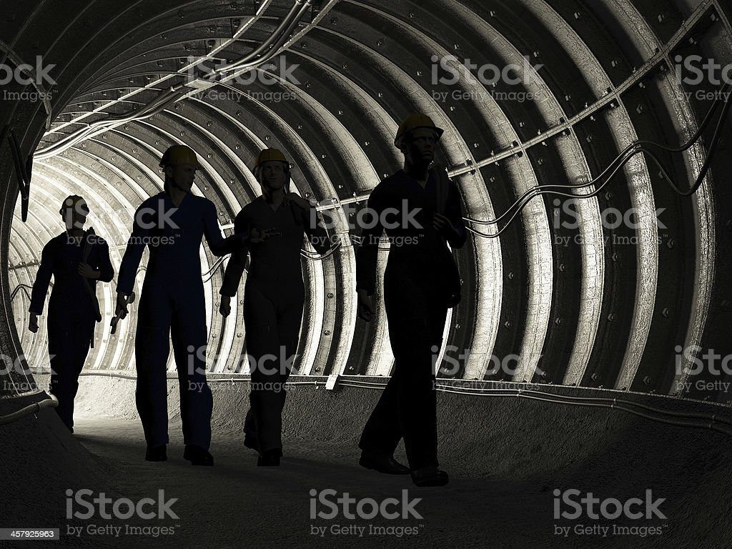 miners royalty-free stock photo