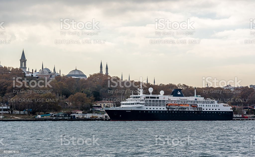 MV Minerva Cruise Ship in Istanbul - Swan Hellenic stock photo