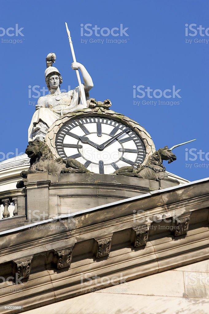 Minerva, Goddess of Wisdom on Liverpool Town Hall royalty-free stock photo