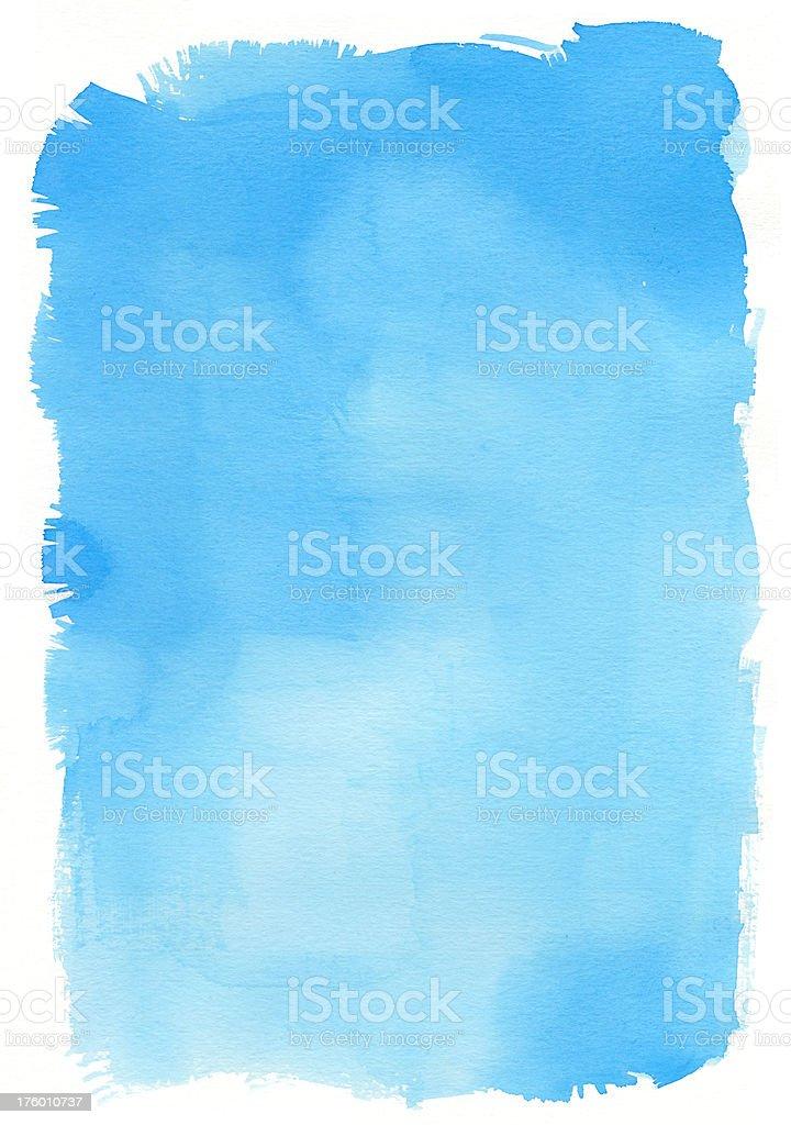 Minerva Rough Blue Watercolour royalty-free stock photo
