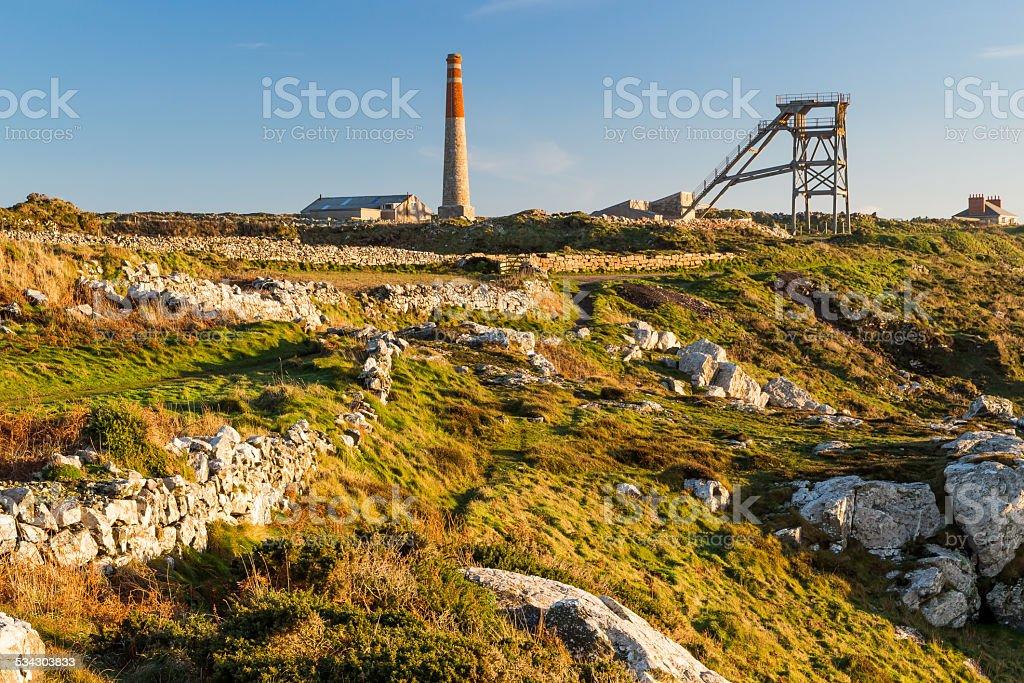 Mines at Botallack Cornwall stock photo