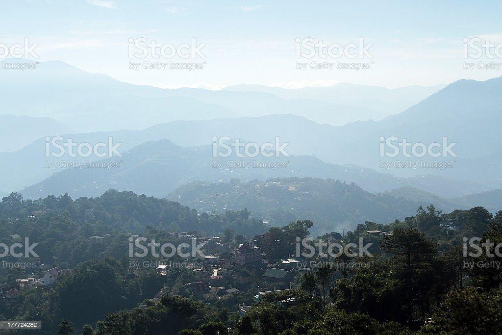 Miniere di vista in Baguio, Filippine foto stock royalty-free