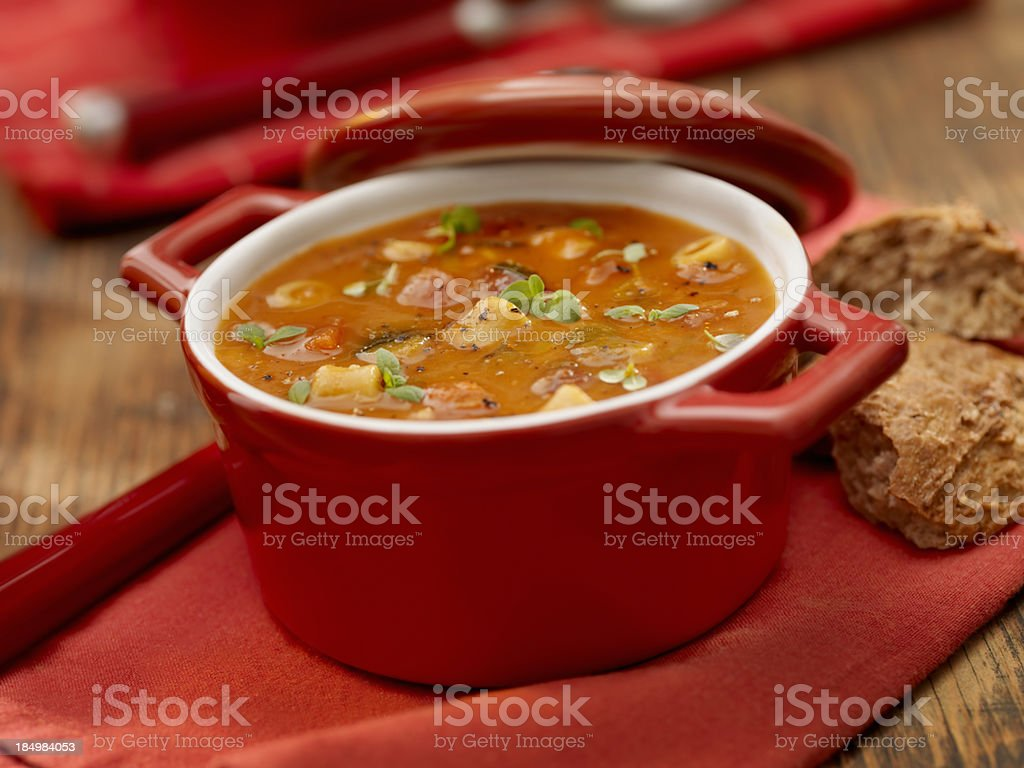 Minestrone Soup royalty-free stock photo