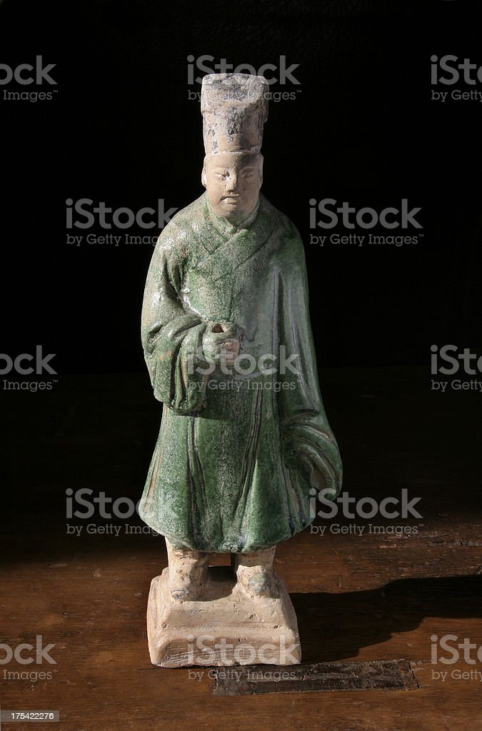 Ming Dynasty Burial Servant royalty-free stock photo