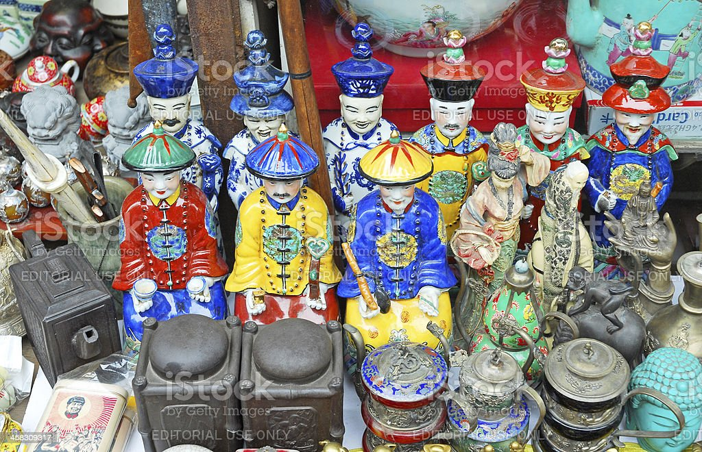 Ming dynasty figures stock photo