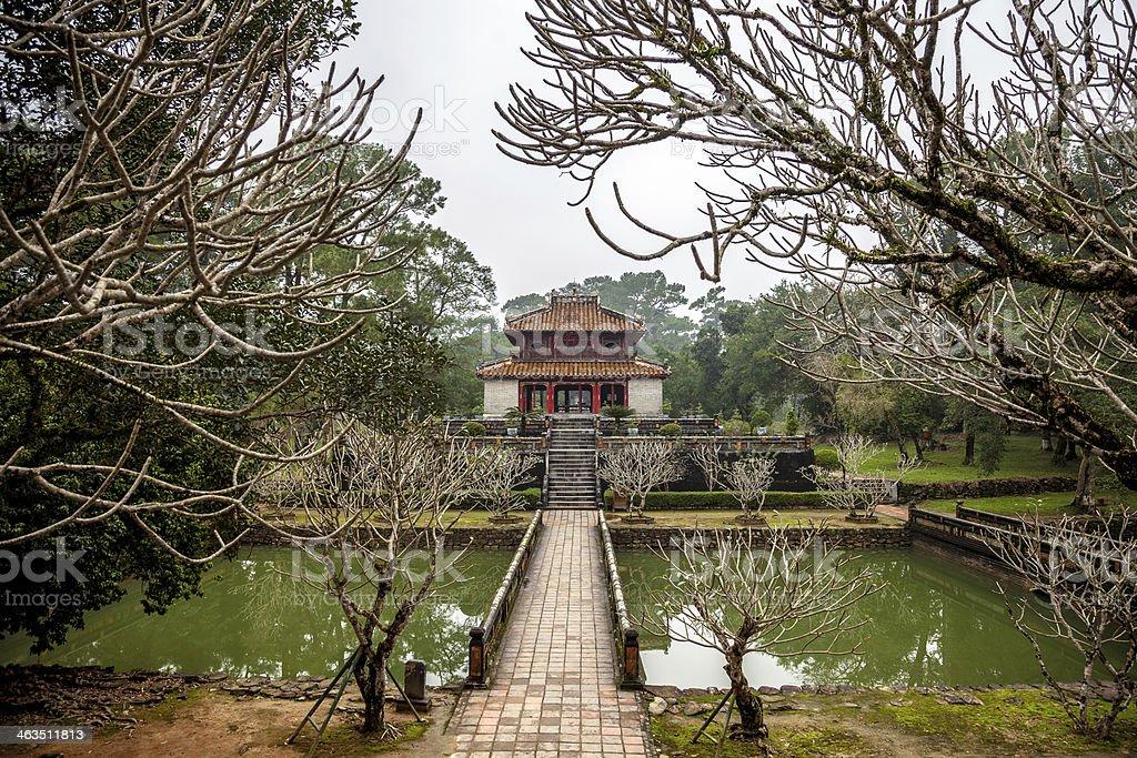 Ming Mang Emperor Tomb in Hue, Vietnam stock photo