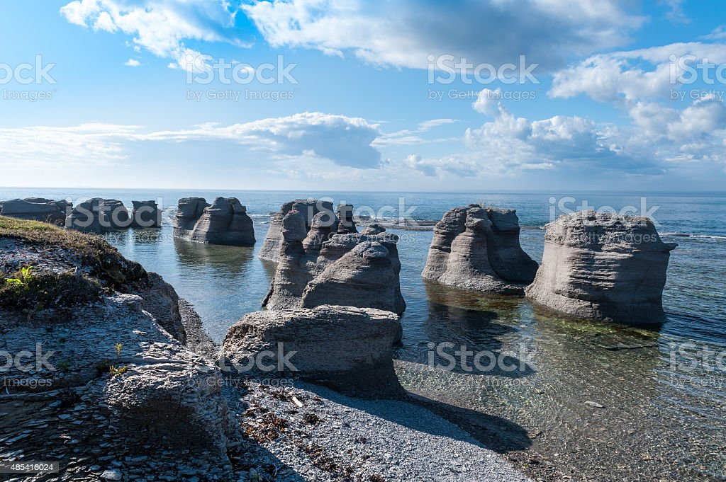 Mingan Monoliths stock photo