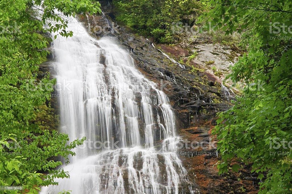Mingo Falls in Cherokee, NC royalty-free stock photo