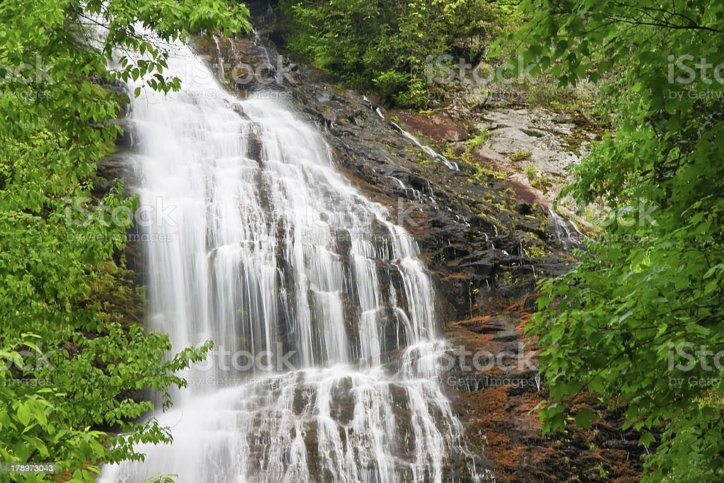 Mingo Falls in Cherokee, NC stock photo