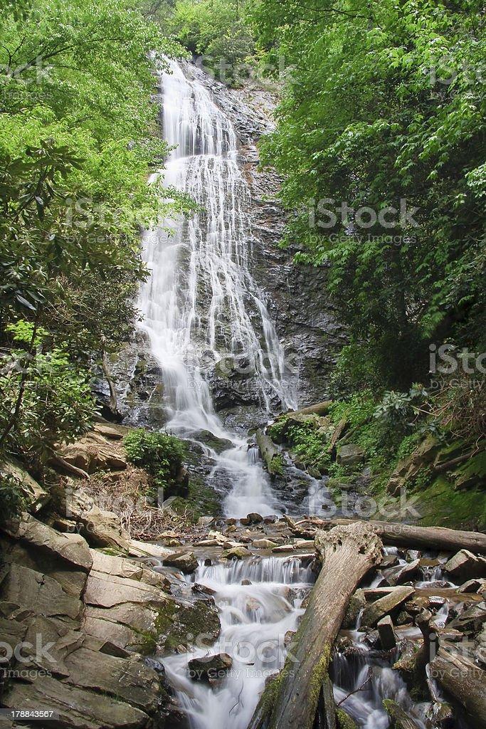 Mingo Falls in North Carolina royalty-free stock photo