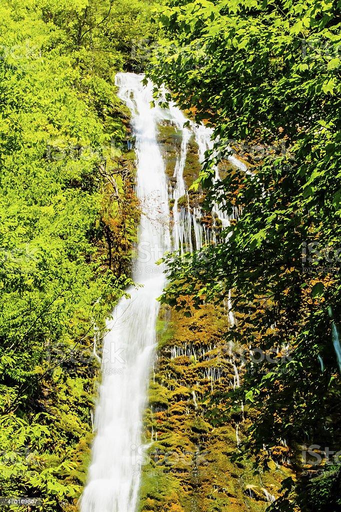 Mingo Falls in North Carolina stock photo