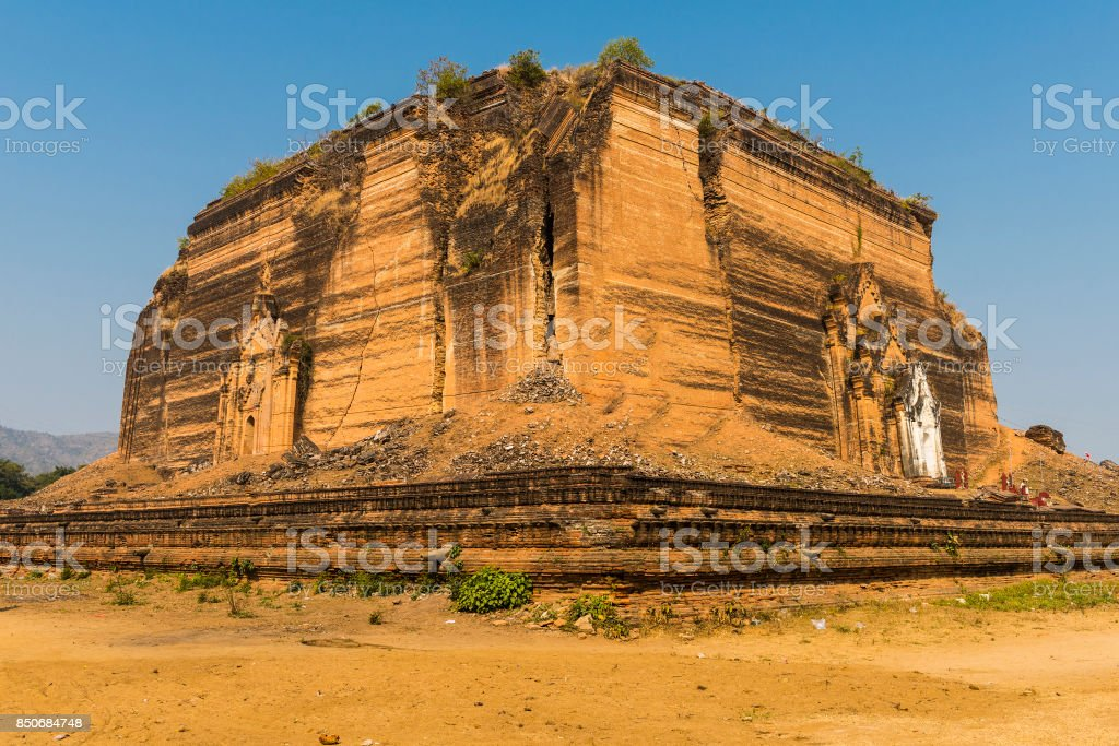 Mingun Pahtodawgyi stock photo
