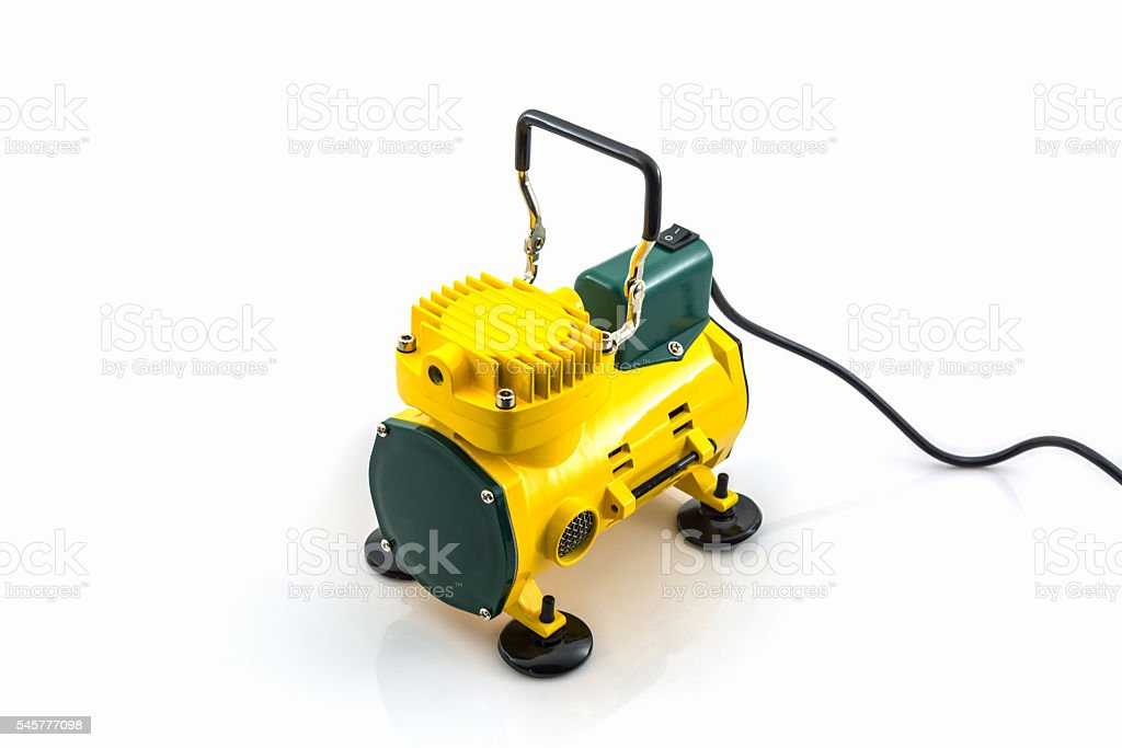 Mini air compressor. stock photo