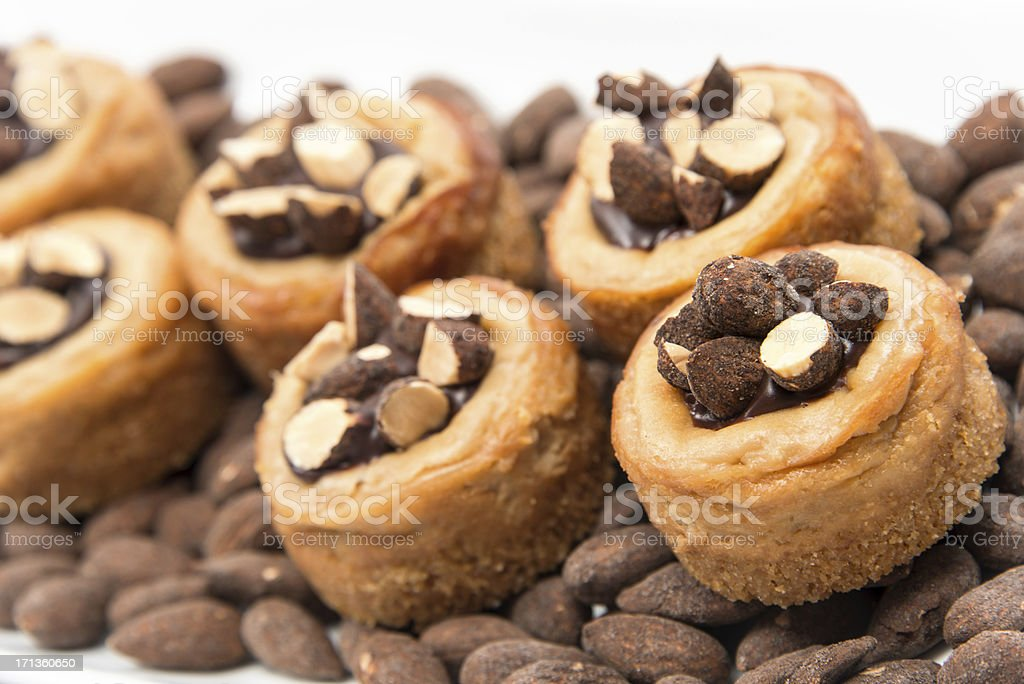 Mini almonds cheesecakes royalty-free stock photo
