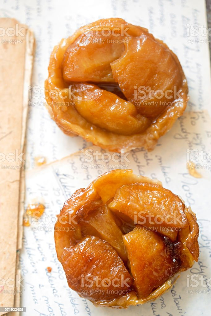 Mini apple tarte tatin stock photo