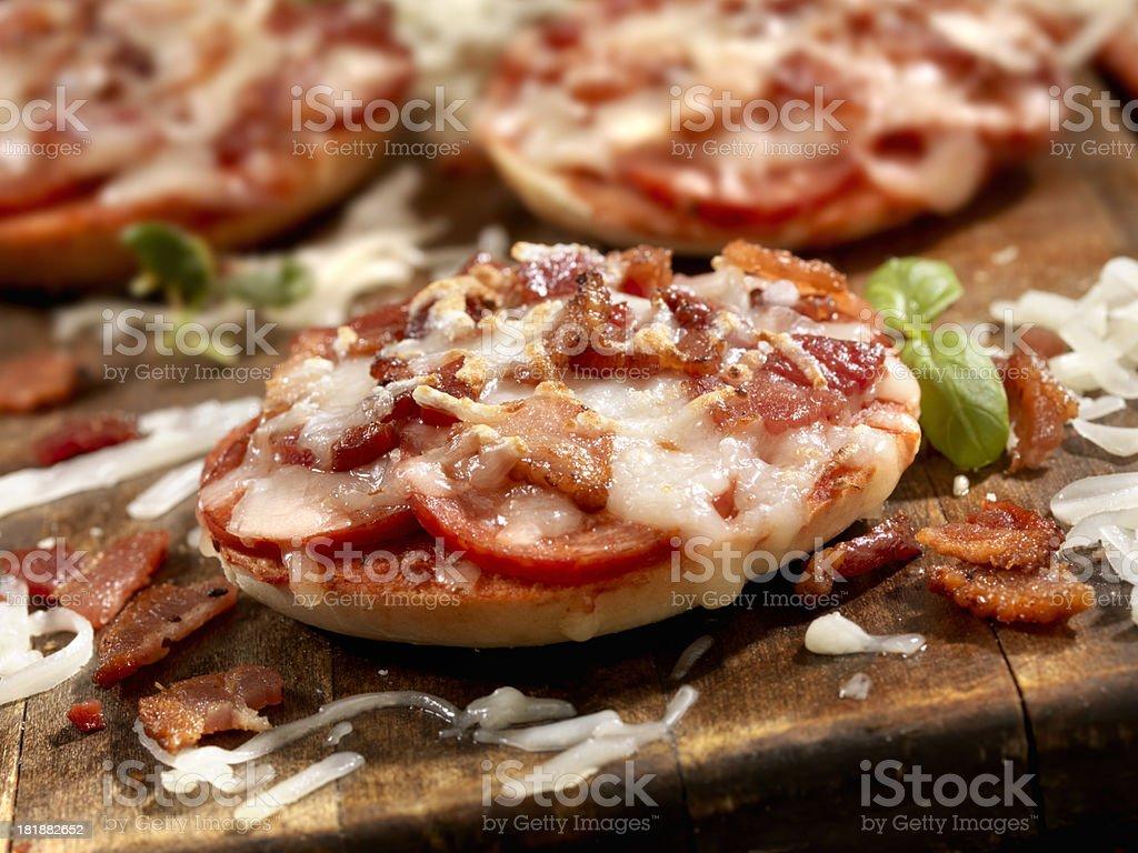 Mini Bagel Pizza's royalty-free stock photo