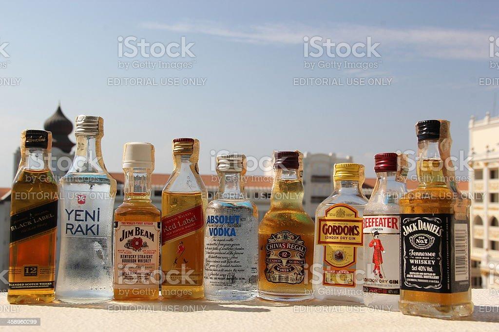 Mini Bar Drinks stock photo