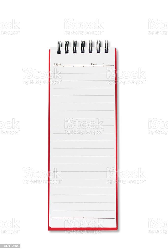 Mini blank page long shape notebook royalty-free stock photo