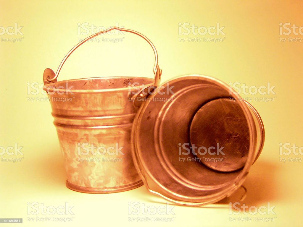 mini buckets royalty-free stock photo