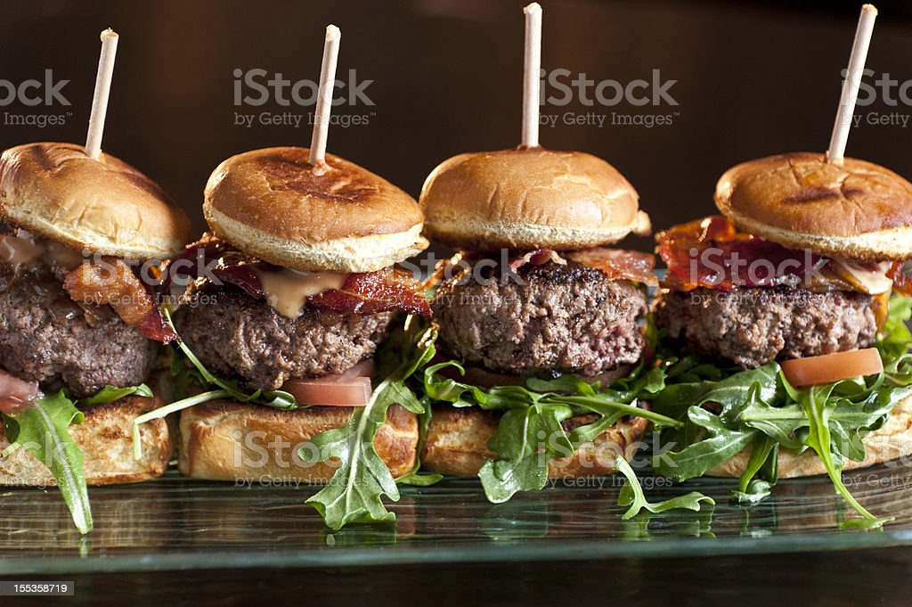 Mini Burgers stock photo