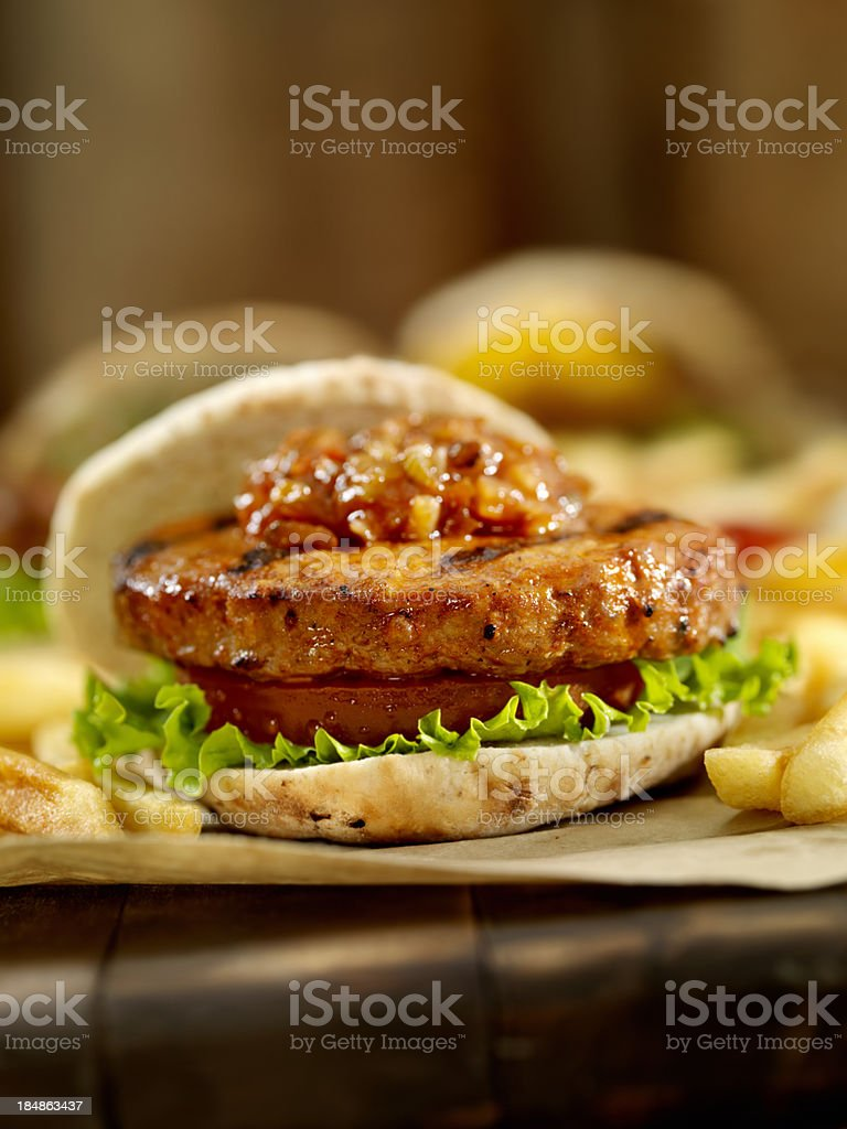 Mini Burger's with Sweet Red Relish stock photo
