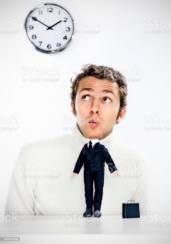 Mini business man stock photo