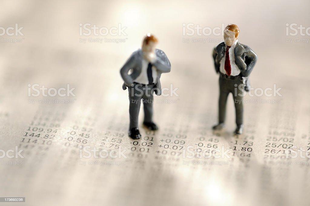 mini business men royalty-free stock photo