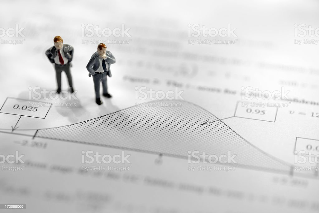 mini business men royalty-free stock photo