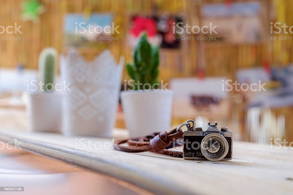 Mini camera stock photo