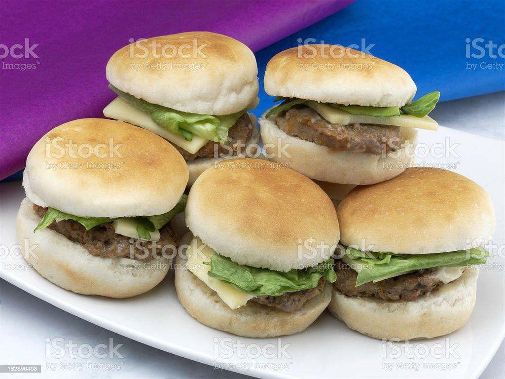 Mini Cheese Burger stock photo