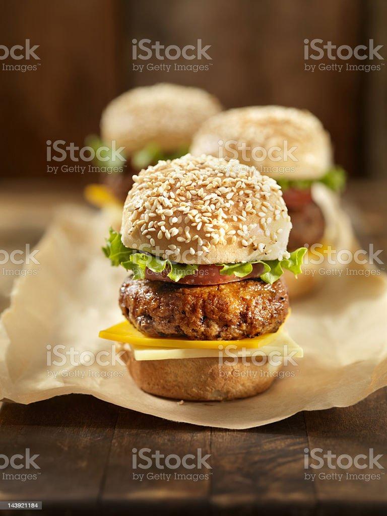 Mini Cheeseburger's stock photo