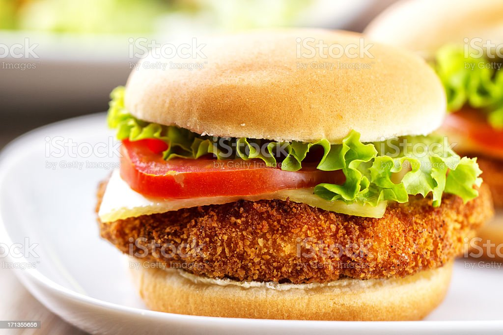 Mini Chicken Burger royalty-free stock photo