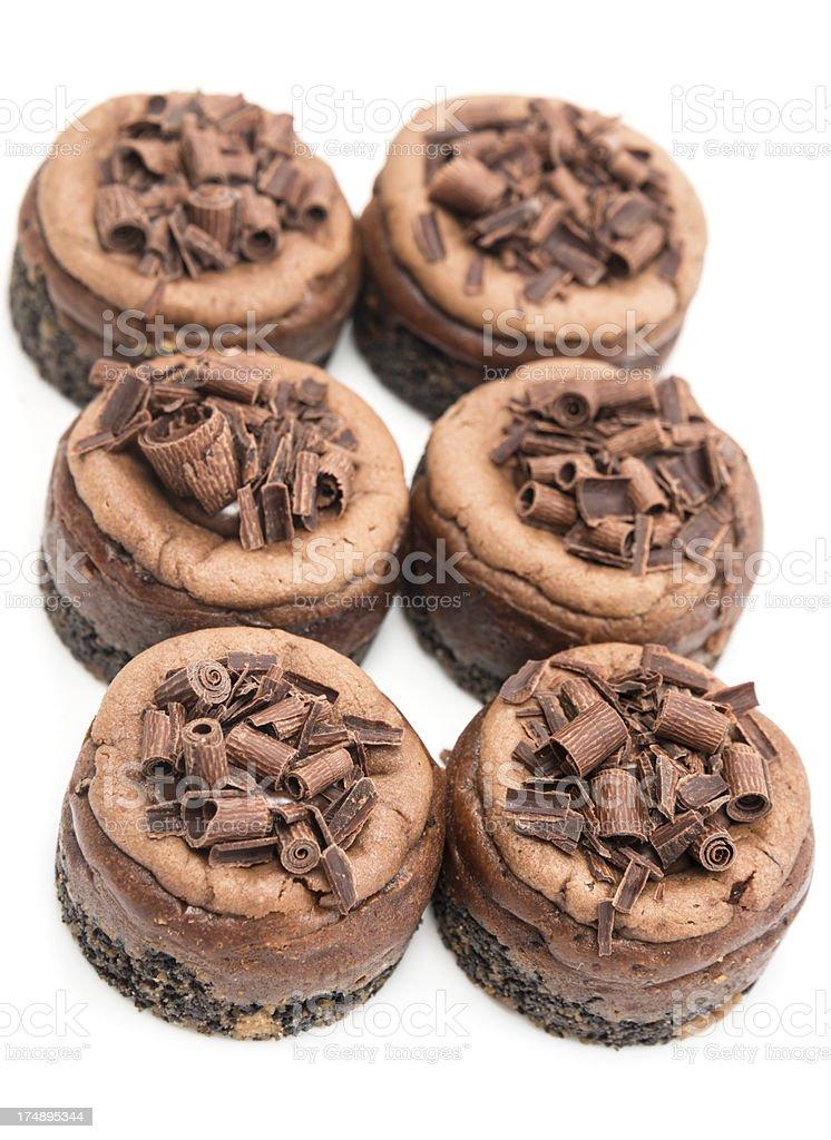 Mini Chocolate cheesecakes royalty-free stock photo