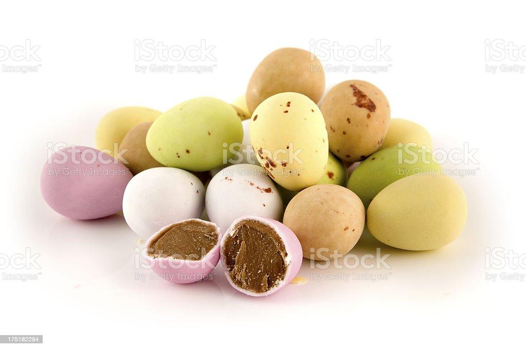 Mini chocolate eggs royalty-free stock photo