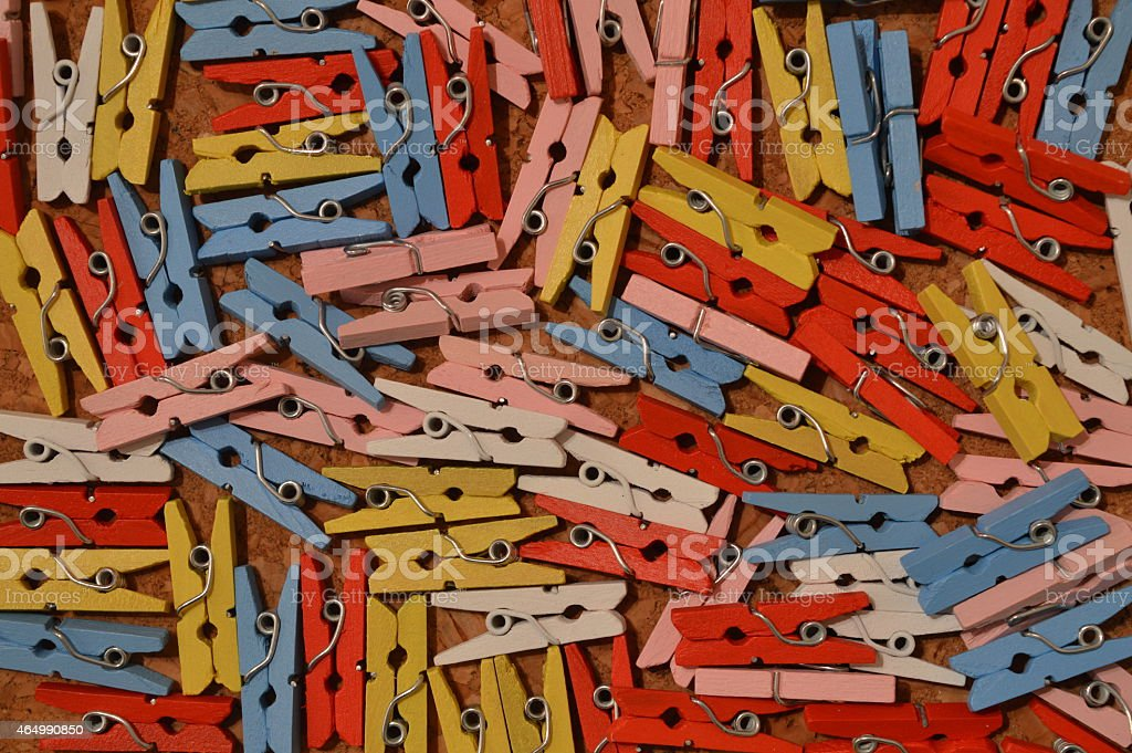 Mini clothes pins background stock photo