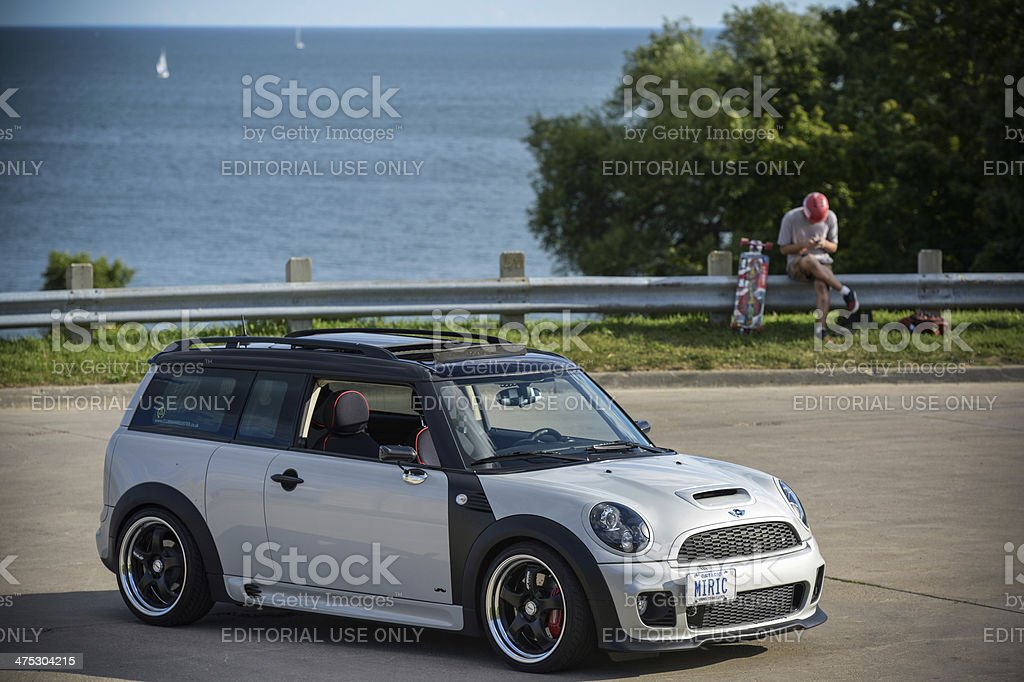 Mini Clubman in Summer Time royalty-free stock photo