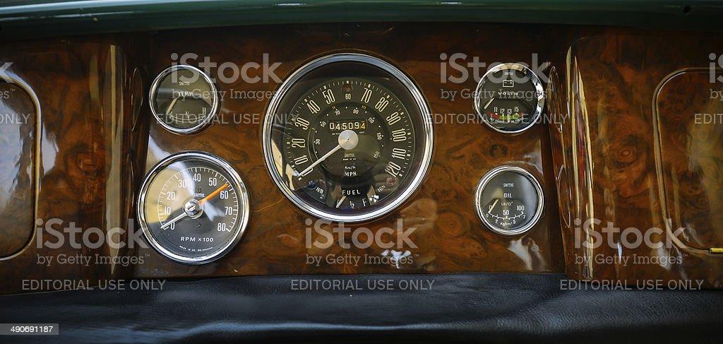 Mini Cooper Classic interior stock photo