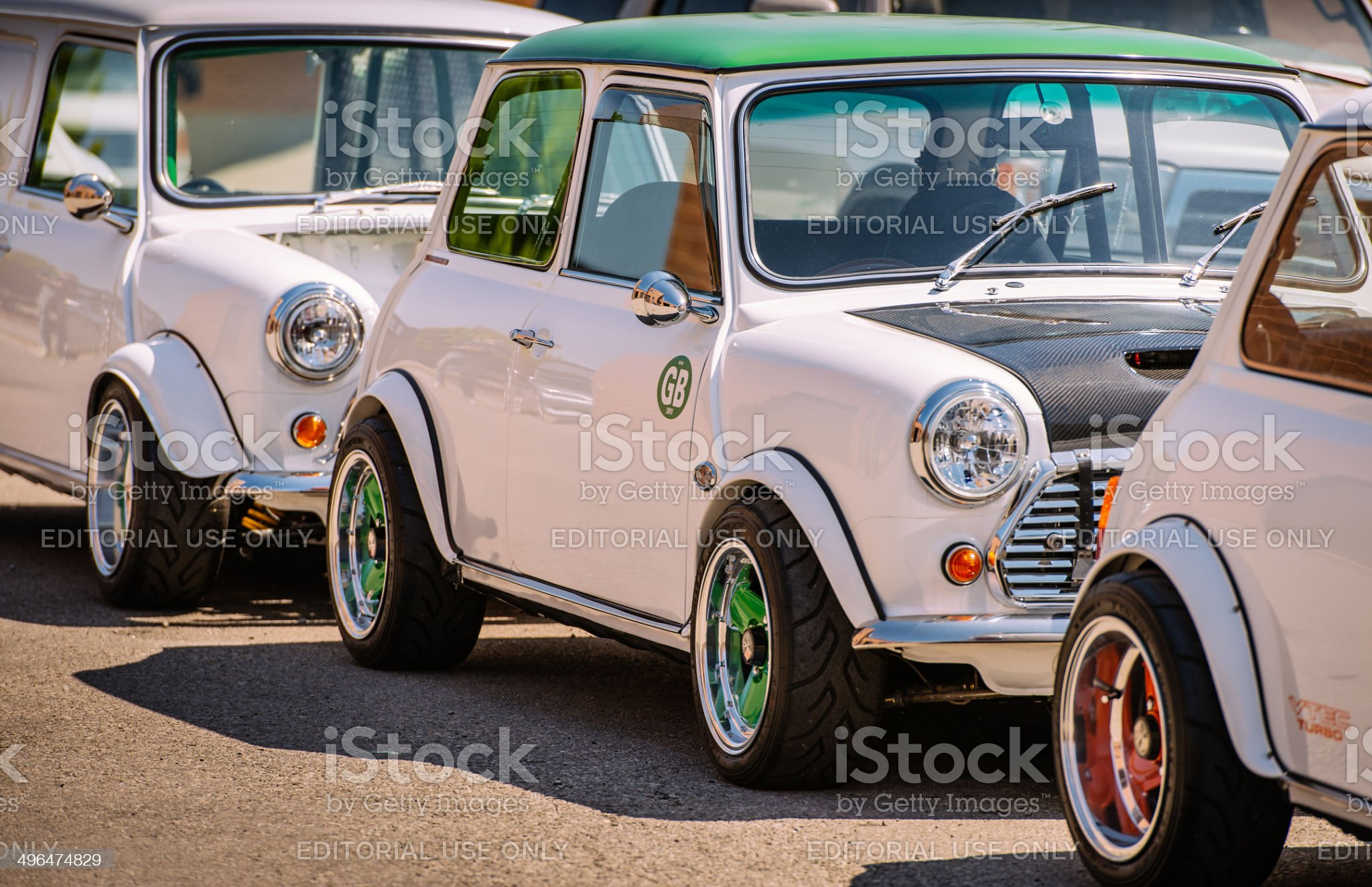 Mini Cooper Classics royalty-free stock photo