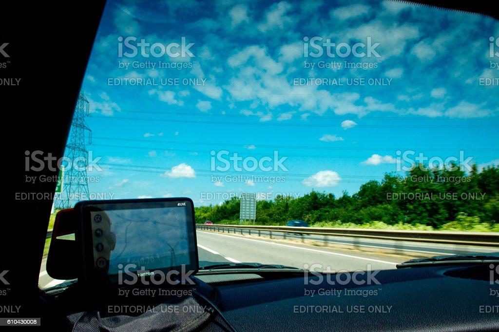 Mini Cooper interior stock photo